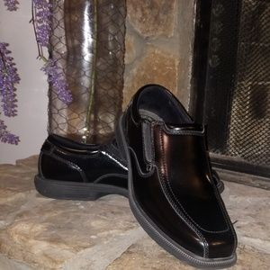 Nunn Bush Kore Comfort Gel Black Dress shoes 10.5W